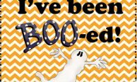 I've been Boo-ed!  An October Linky!