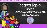 Common Core Chat: Shift 2: Literacy Instruction in All Content Areas