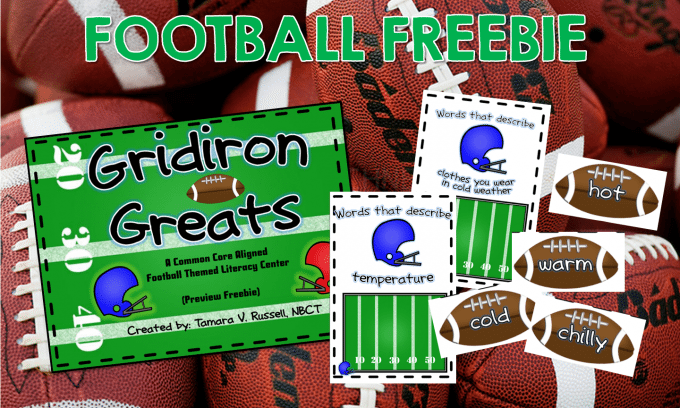Football themed freebie & CURRENTLY!