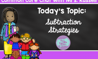 Common Core Chat: Subtraction Strategies