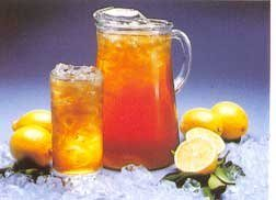 Pitcher and glass of sweet tea