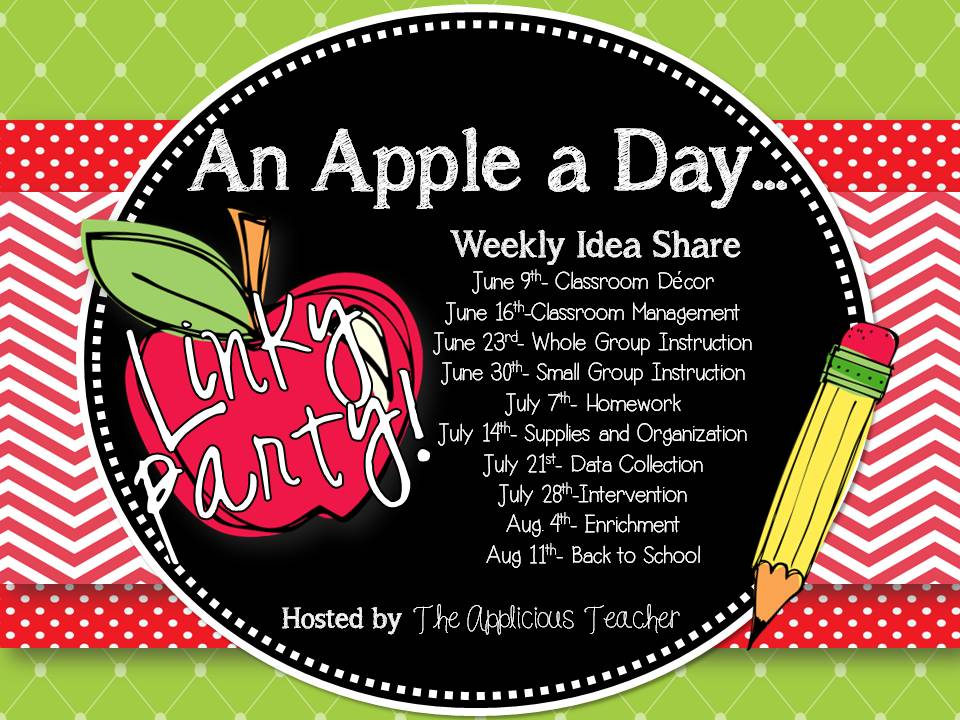 http://theappliciousteacher.blogspot.com/2013/06/an-apple-day-linky-party-small-group.html
