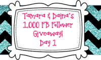 Tamara & Daina's 1K FB Follower Giveaway DAY 1