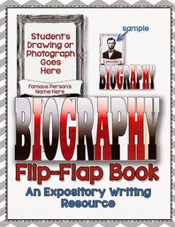 http://www.teacherspayteachers.com/Product/Biography-Flip-Flap-Book-An-Expository-Writing-Resource-914117