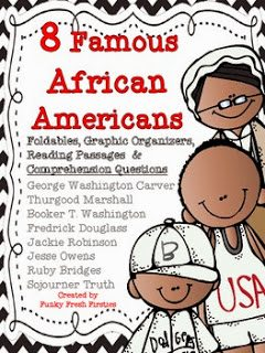 http://www.teacherspayteachers.com/Product/8-Famous-African-Americans-Unit-515208