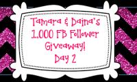 Tamara & Daina's 1K FB Follower Giveaway DAY 2