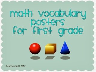 http://www.teacherspayteachers.com/Product/Math-Vocabulary-Posters-for-First-Grade-242207