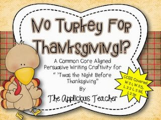 http://www.teacherspayteachers.com/Product/No-Turkey-For-Thanksgiving-Persuasive-Writing-Craftivity-354222