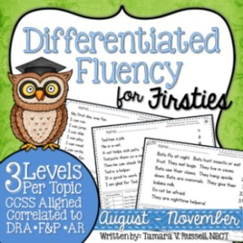 Differentiated Fluency for Firsties {August - November}