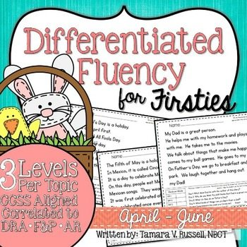 Differentiated Fluency for Firsties {April - June}