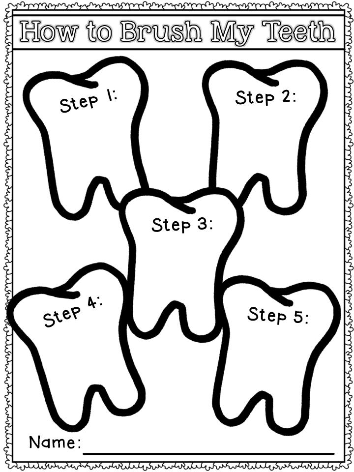 Dental Health Freebie Mrs Russell's Room. Dental Health Printables Freebie. Kindergarten. Dental Health Worksheets For Kindergarten At Mspartners.co