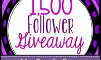1,500 Follower Giveaway