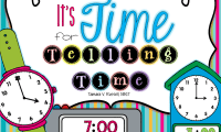 It's Time for Telling Time…and a FREEBIE too! :)