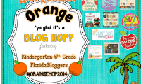 Orange Ya' Glad it's a Blog Hop: Back to School
