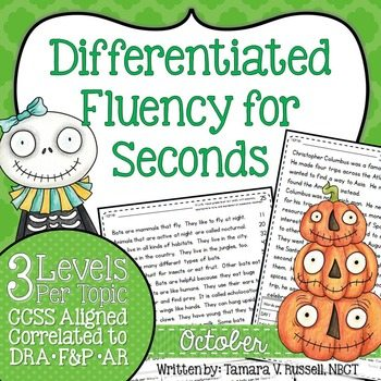 Differentiated Fluency for Seconds: October Edition