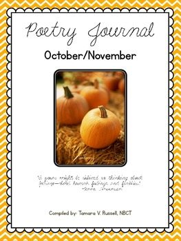 Mrs. Russell's Poetry Journal Poems for October/November