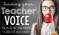 Finding my teacher voice: Mobilize for change…VOTE!
