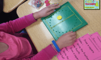 Tips & Tricks for Teachers: Fractions with Geoboards
