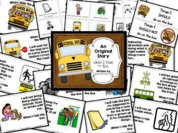 Bus Procedures Mini-Unit & Craftivity for Firsties & Seconds