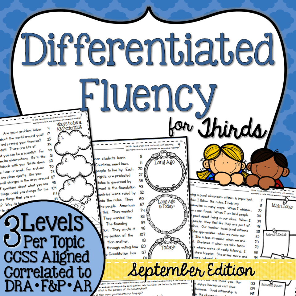 Third Grade Fluency September