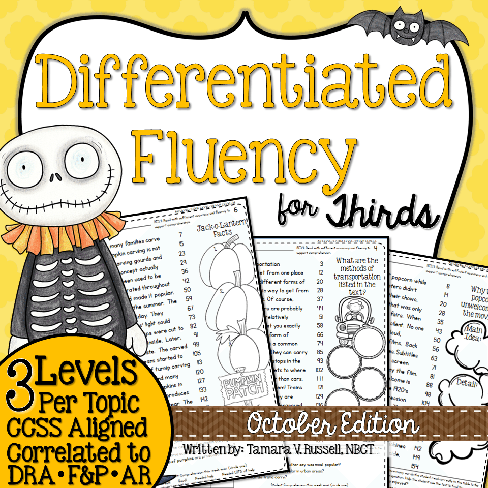 Third Grade Fluency October