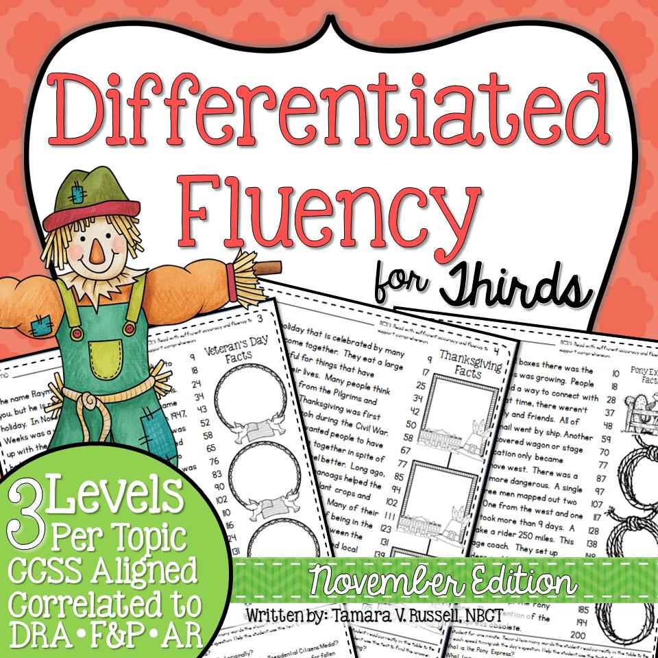 Third Grade Fluency November
