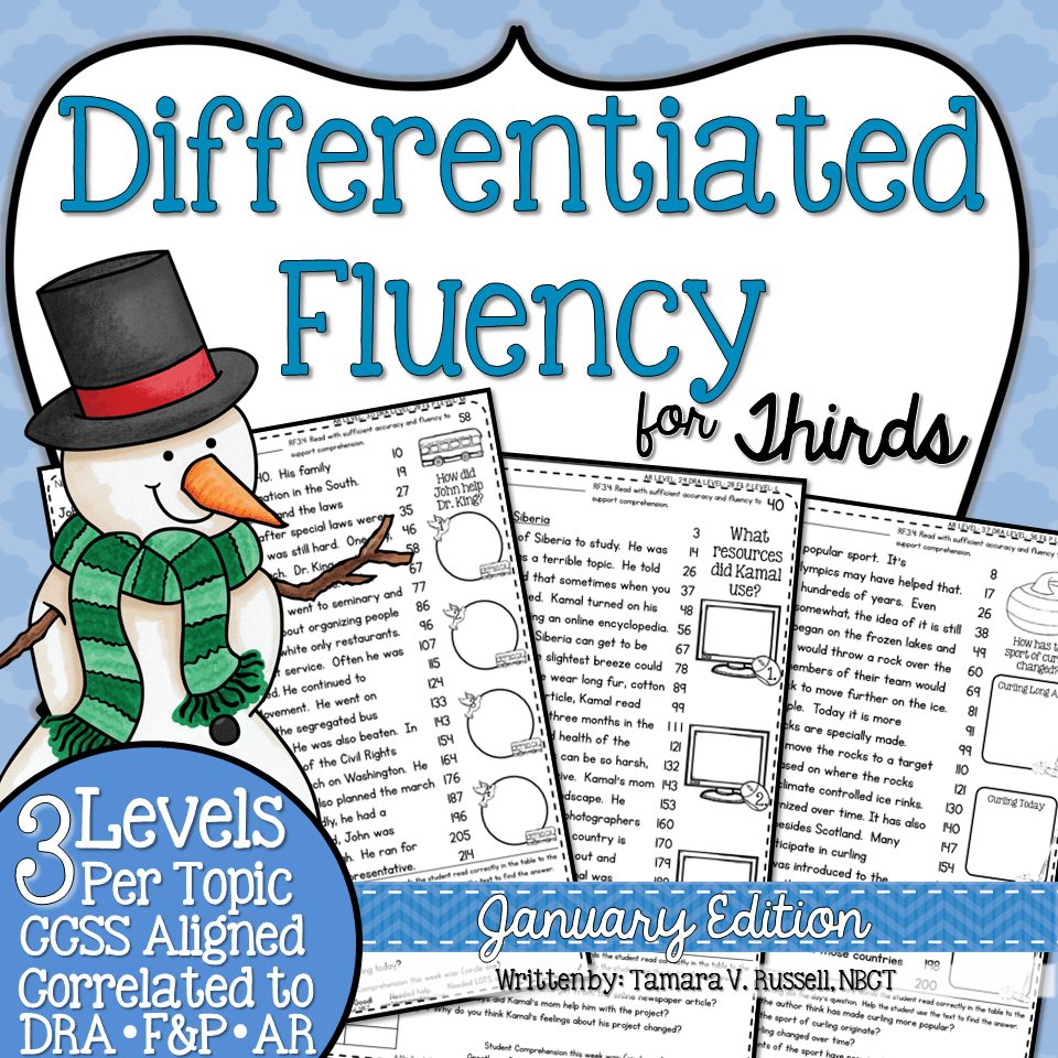 Third Grade Fluency January