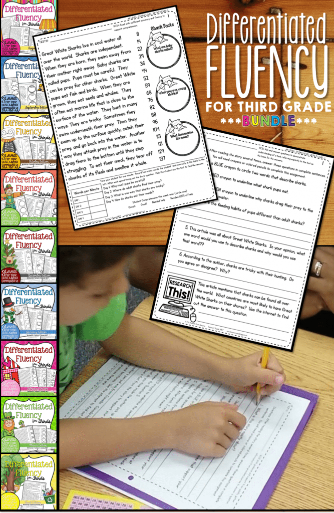 Third Grade Fluency Bundle