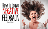 How to Leave Negative Feedback