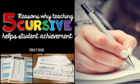 5 Reasons You Need to Be Teaching Cursive