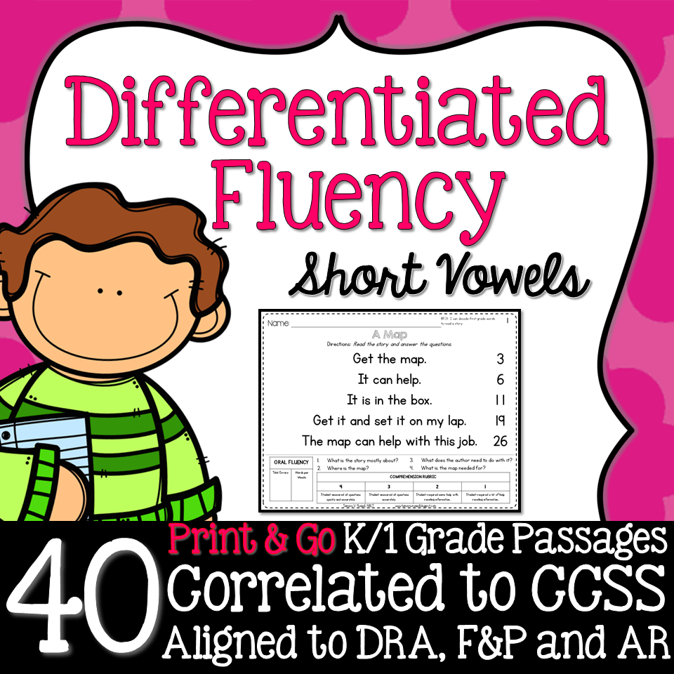 Kindergarten Fluency: Short Vowels