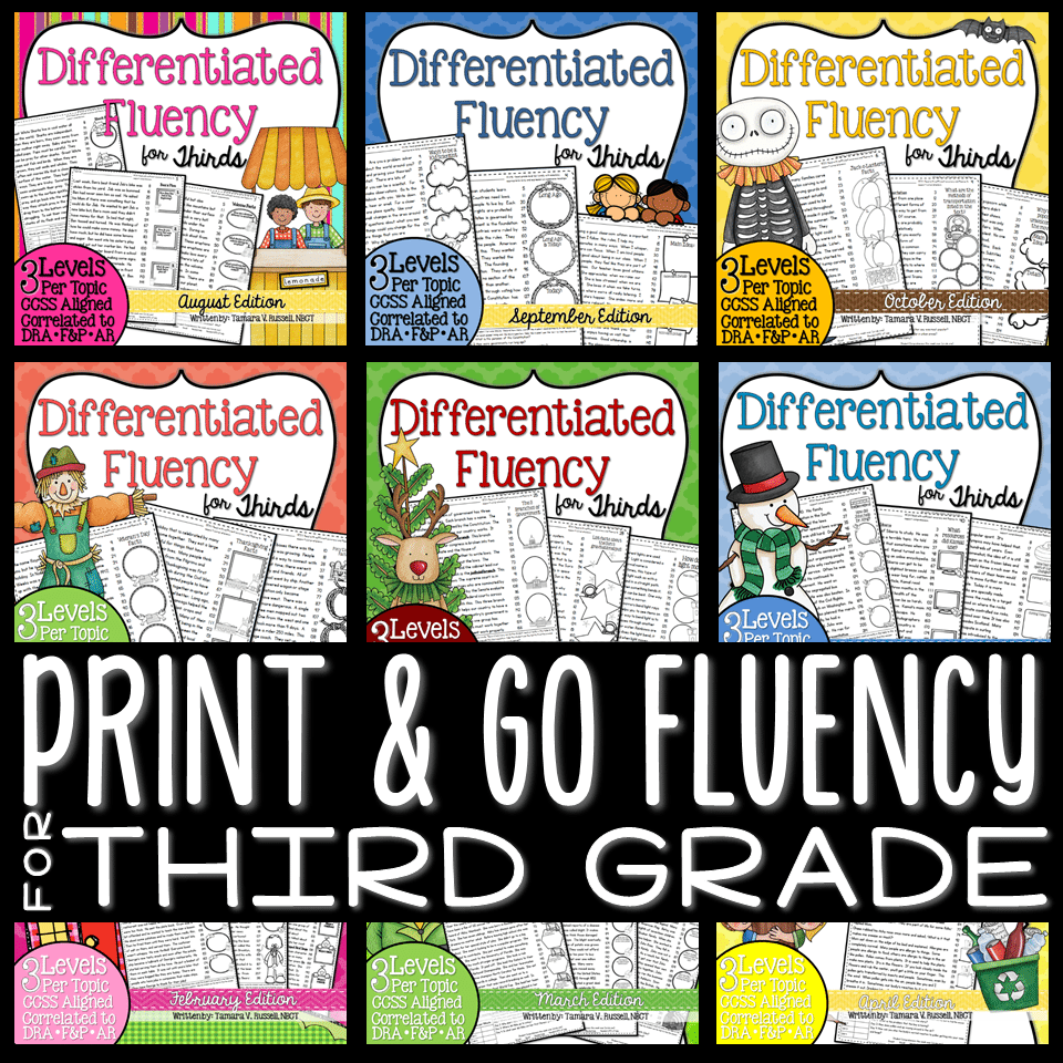 Third Grade Fluency Cover