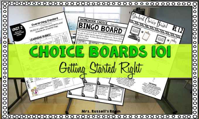 Choice Boards 101