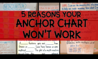 5 Reasons Your Anchor Chart Won't Work